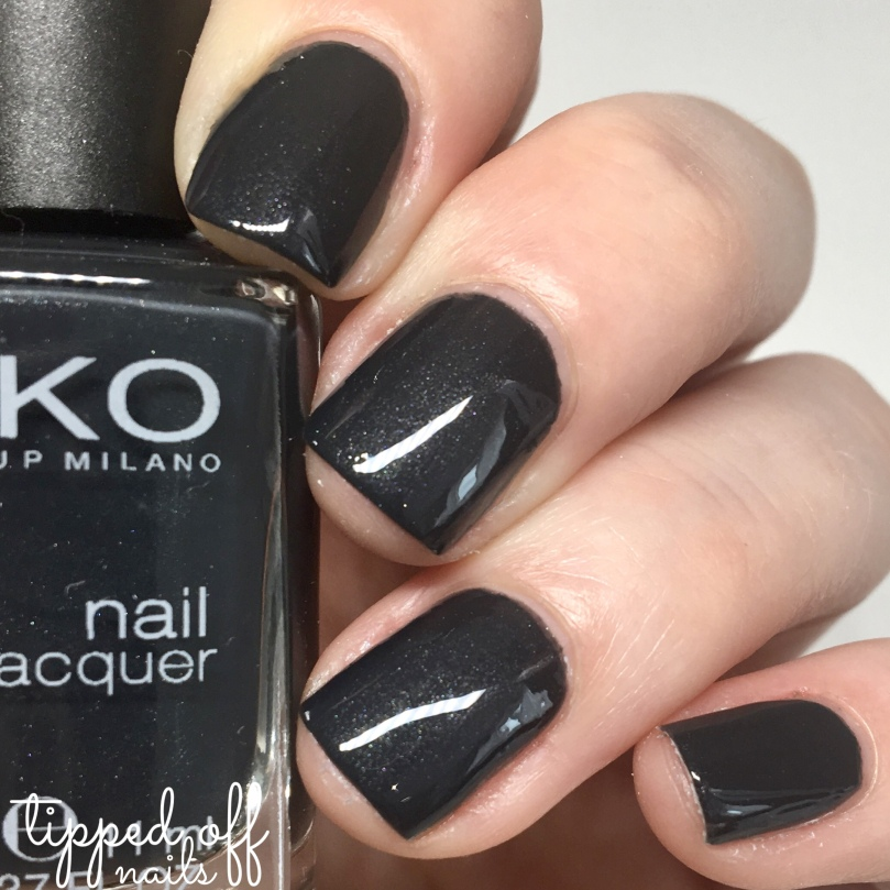 Kiko Milano Nail Lacquer Swatch Pearly Gunmetal