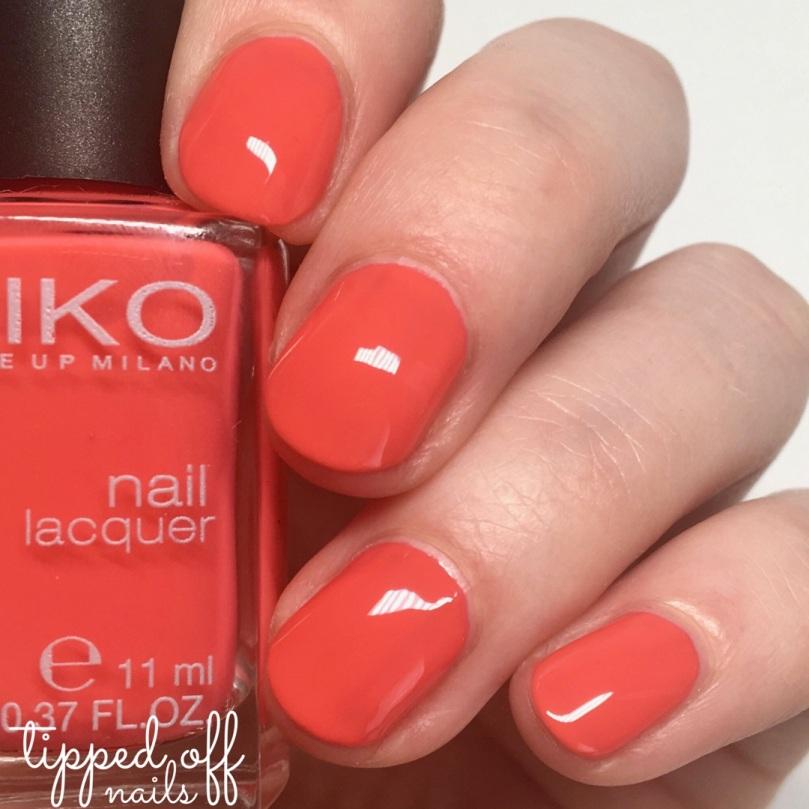 Kiko Milano Nail Lacquer Swatches - 281 Mango
