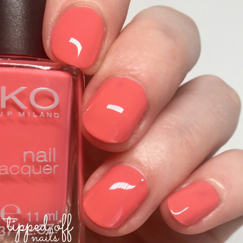 Kiko Milano Nail Laquer Swatch - 360 Strawberry Pink