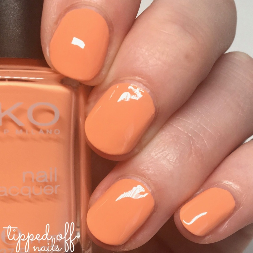 Kiko Milano Nail Lacquer swatch - 359 Light Peach