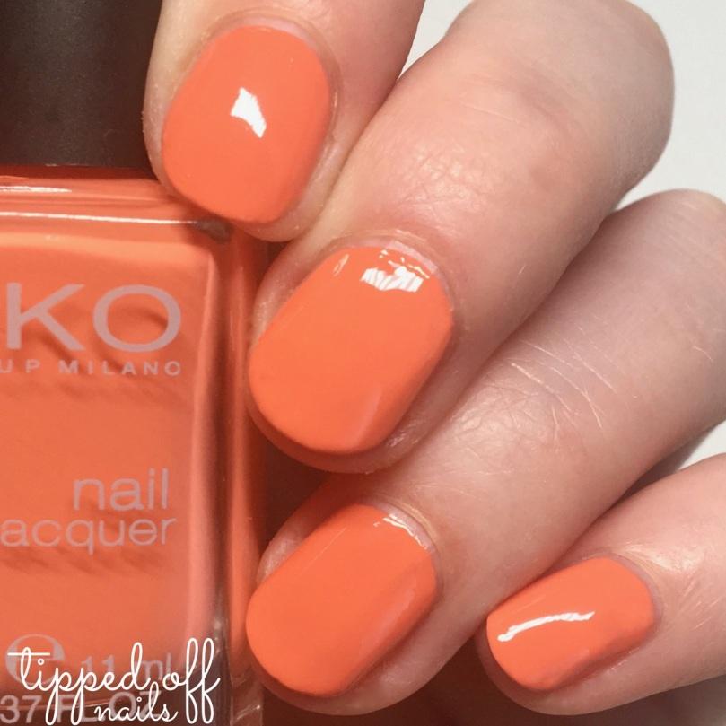 Kiko Milano Nial Lacquer Swatch - 358 Peach Rose