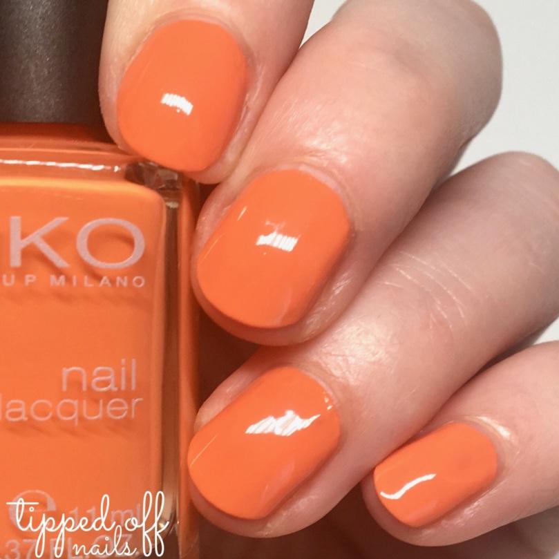 Kiko Milano Nail Lacquer Swatch - 483 Papaya