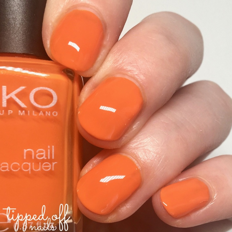 Kiko Milano Nail Lacquer Swatch - 280 Orange