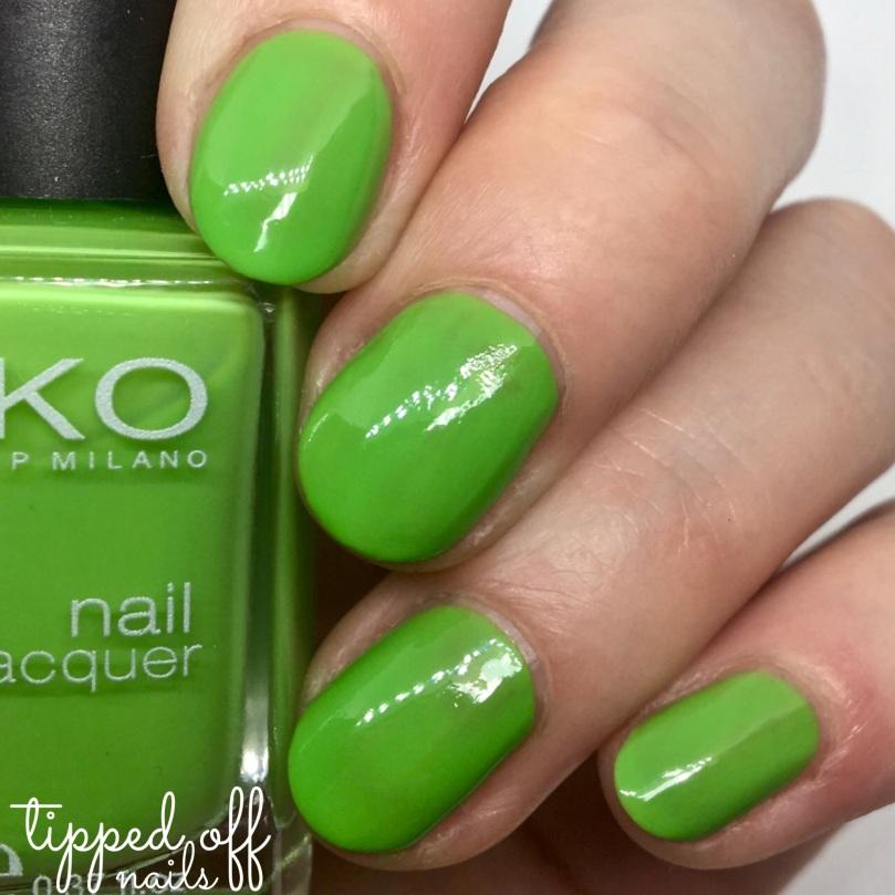 Kiko Milano Nail Lacquer Swatch - 297 Acid Green