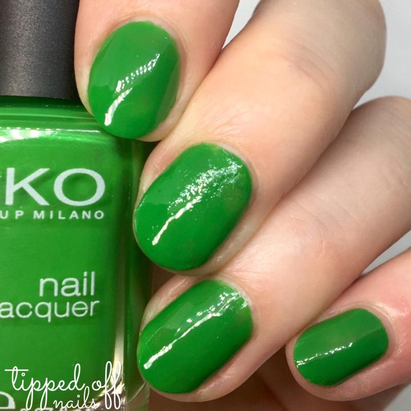 Kiko Milano Nail Laquer Swatch - 391 Grass Green