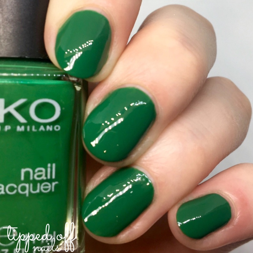 Kiko Milano Nail Laquer Swatch -354 Green Forest