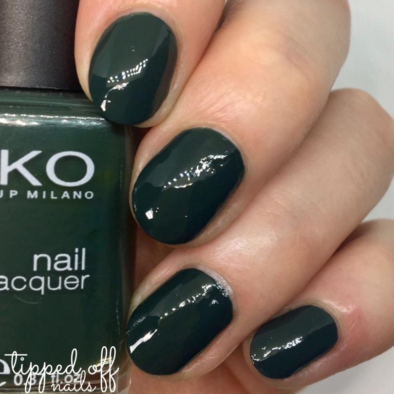Kiko Milano Nail Laquer Swatch - 347 Dark Green