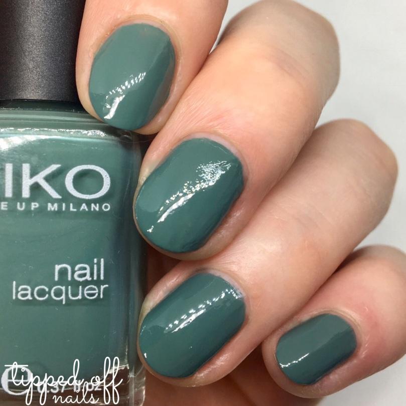 Kiko Milano Nail Laquer Swatch - 346 Olive Drab