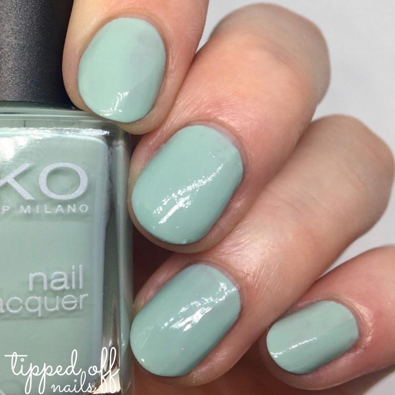 Kiko Milano Nail Lacquer Swatch - 345 Jade Green