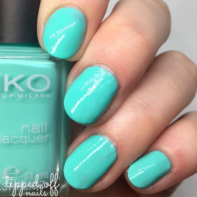 Kiko Milano Nail Lacquer Swatch - 389 Mint Milk