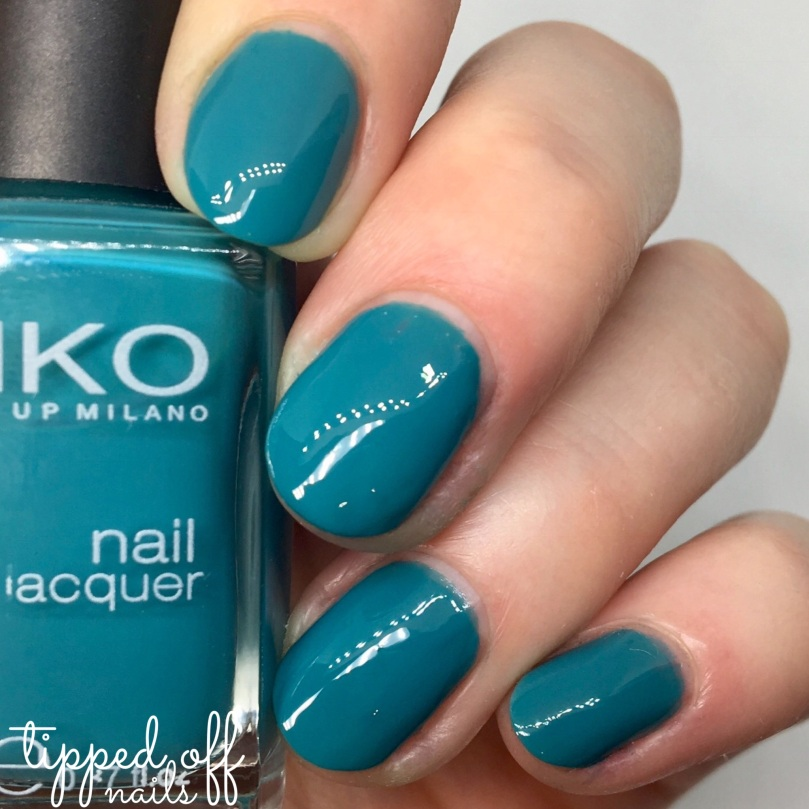 Kiko Milano Nail Lacquer Swatch - 341 Cobalt Green