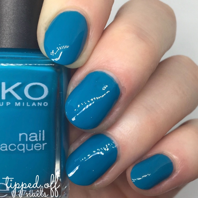 Kiko Milano Nail Lacquer Swatch - 387 Turquoise