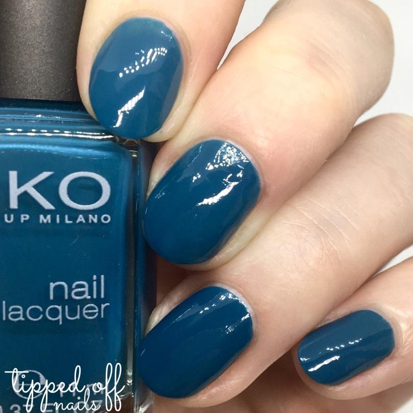 Kiko Milano Nail Lacquer Swatch - 528 Ocean Green
