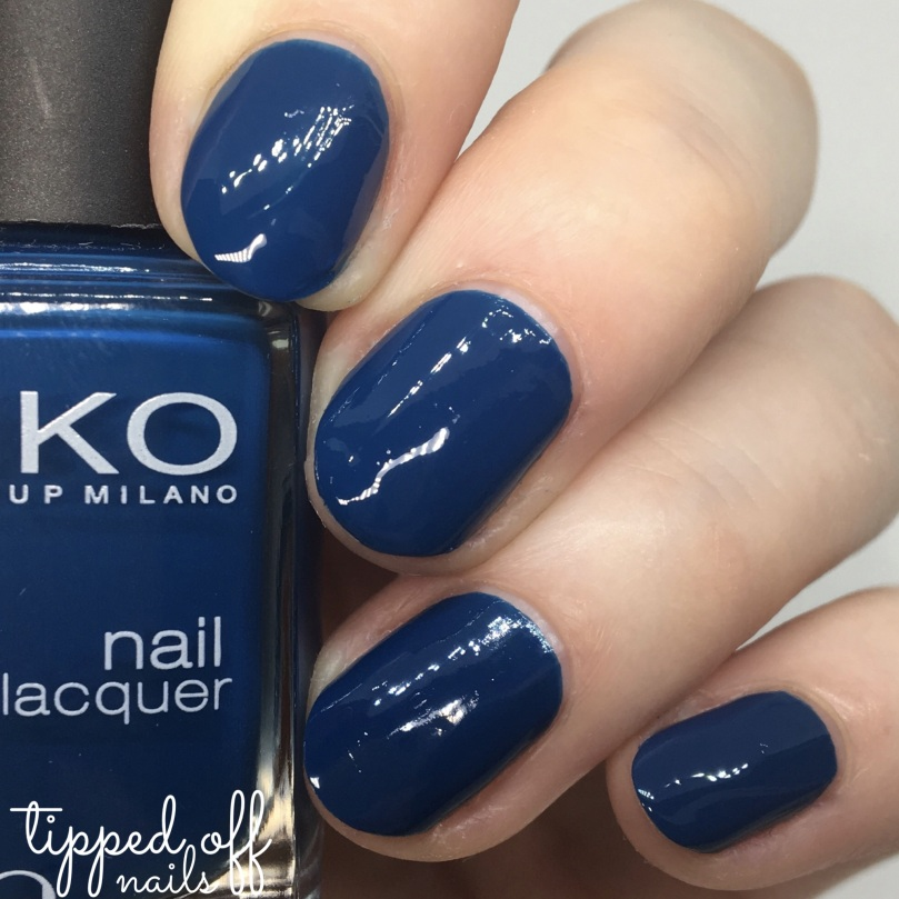 Kiko Milano Nail Lacquer Swatch - 383 Oil Blue