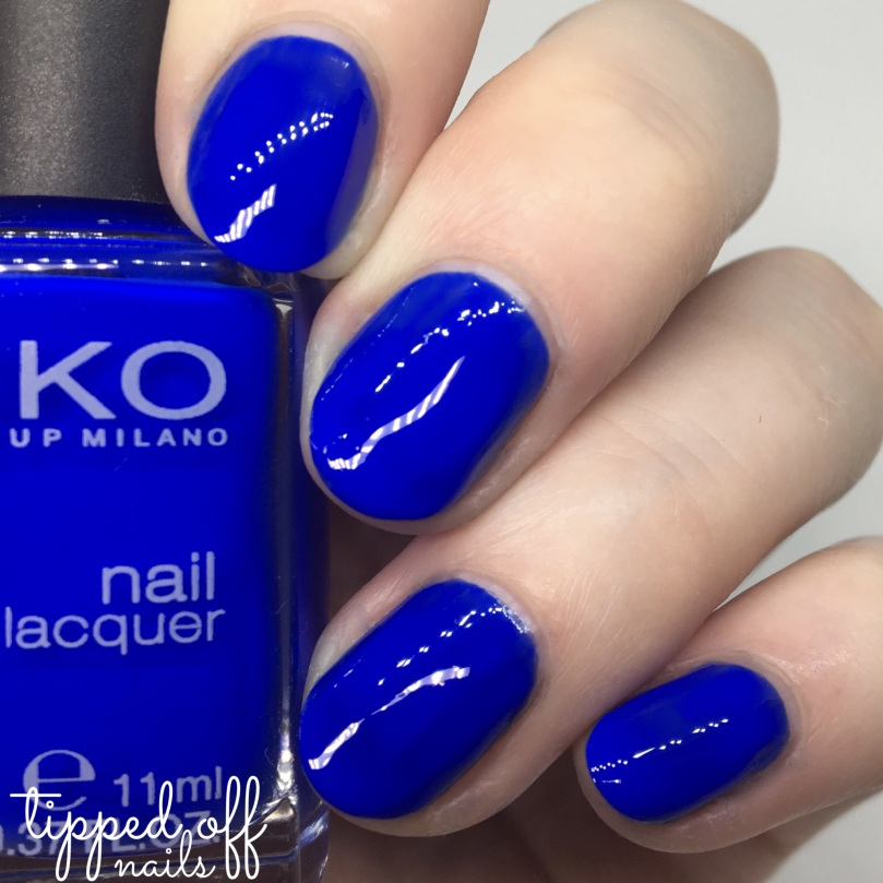 Kiko Milano Nail Lacquer Swatch - 336 Electric Blue
