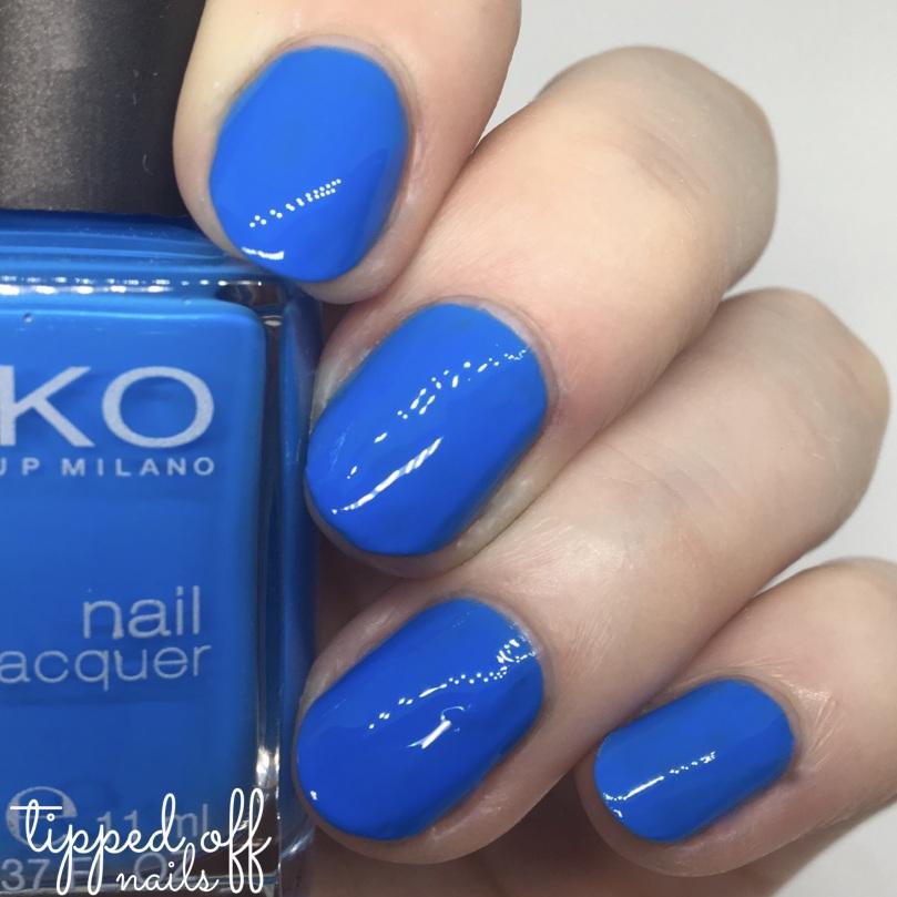 Kiko Milano Nail Lacquer Swatch - 385 Pastel Blue