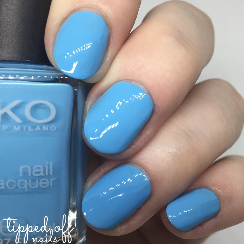 Kiko Milano Nail Lacquer Swatch - 340 Light Blue