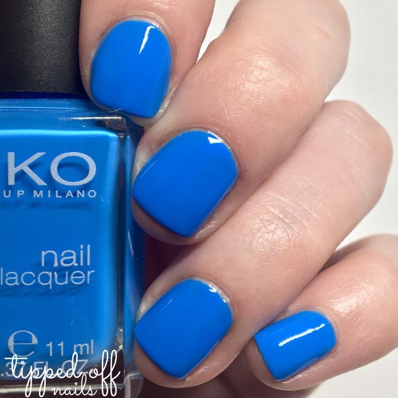 Kiko Milano Nail Lacquer Swatch - 295 Cerulean Blue