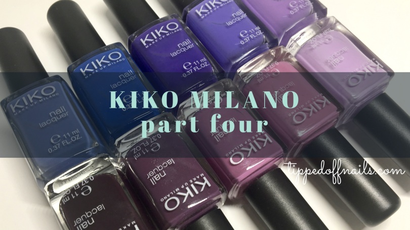 Kiko Milano Part Four: Blues, Purples & plums