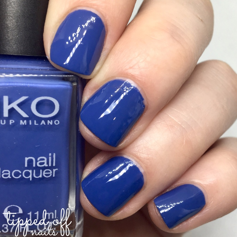 Kiko Milano Nail Lacquer Swatch 518 - Light Navy Blue