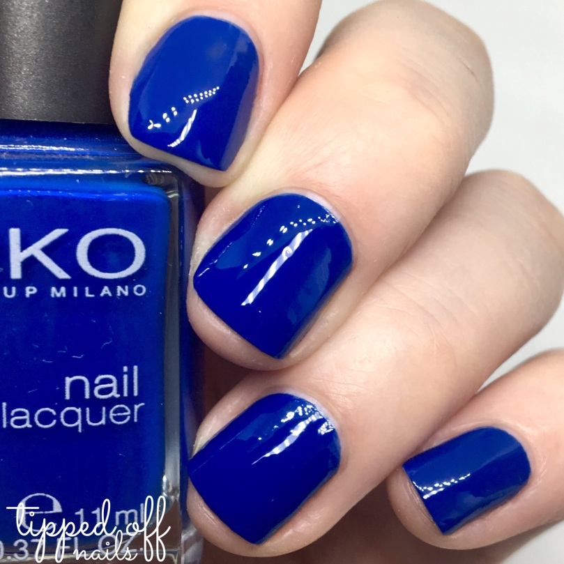 Kiko Milano Nail Lacquer Swatch 519 - Cobalt Blue