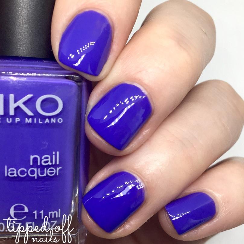 Kiko Milano Nail Lacquer Swatch 332 - Dark Violet