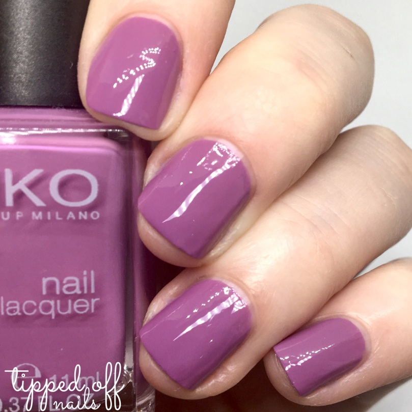 Kiko Milano Nail Lacquer Swatch 499 - Dahlia Mauve