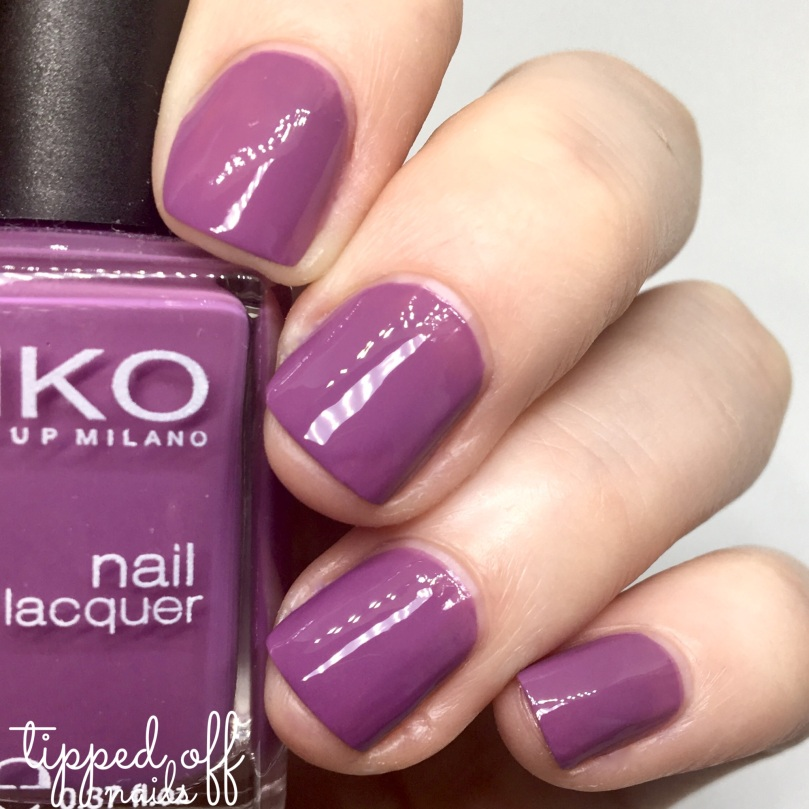Kiko Milano Nail Lacquer Swatch - 378 Light Plum