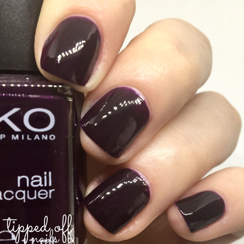 Kiko Milano Nail Lacquer Swatch 244 Dark Plum Red