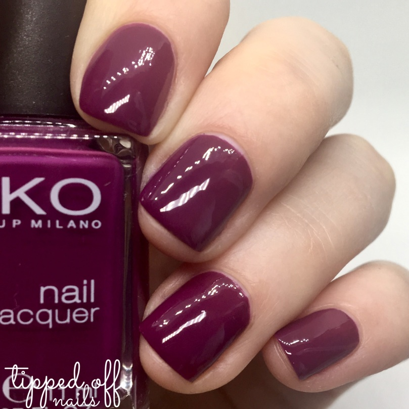 Kiko Milano Nail Lacquer Swatch - 496 Imperial Purple