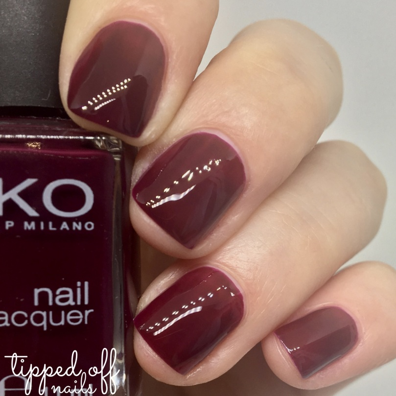 Kiko Milano Nail Lacquer Swatch 243 Plum Red