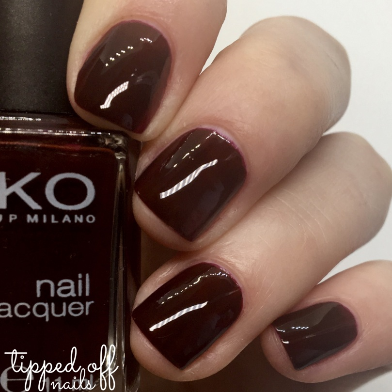 Kiko Milano Nail Lacquer Swatch 226 Rouge Noir