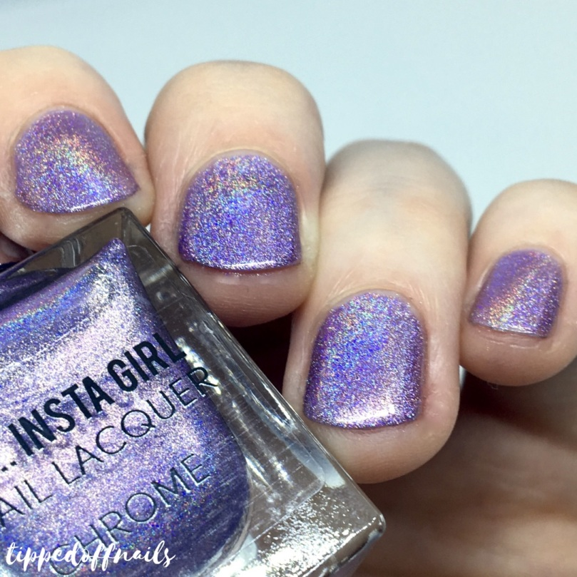 Primark Insta Girl Chrome holo nail lacquer Lilac Chrome