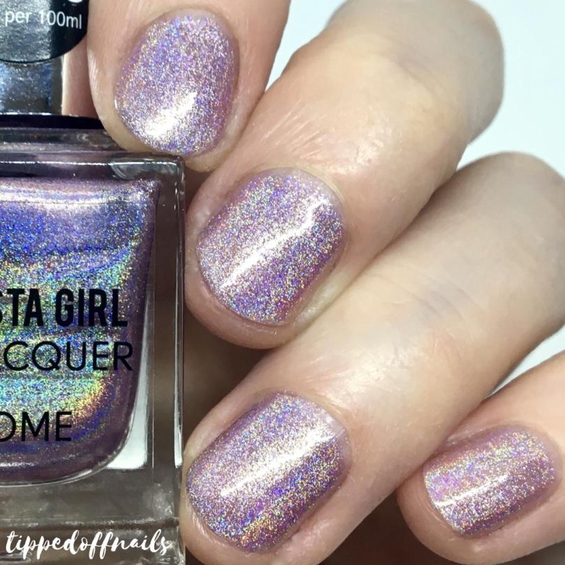 Primark Insta Girl Chrome holo nail lacquer Pink Strobe