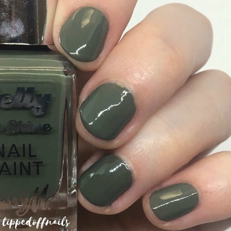 Barry M Gelly Hi-Shine Matcha Swatch