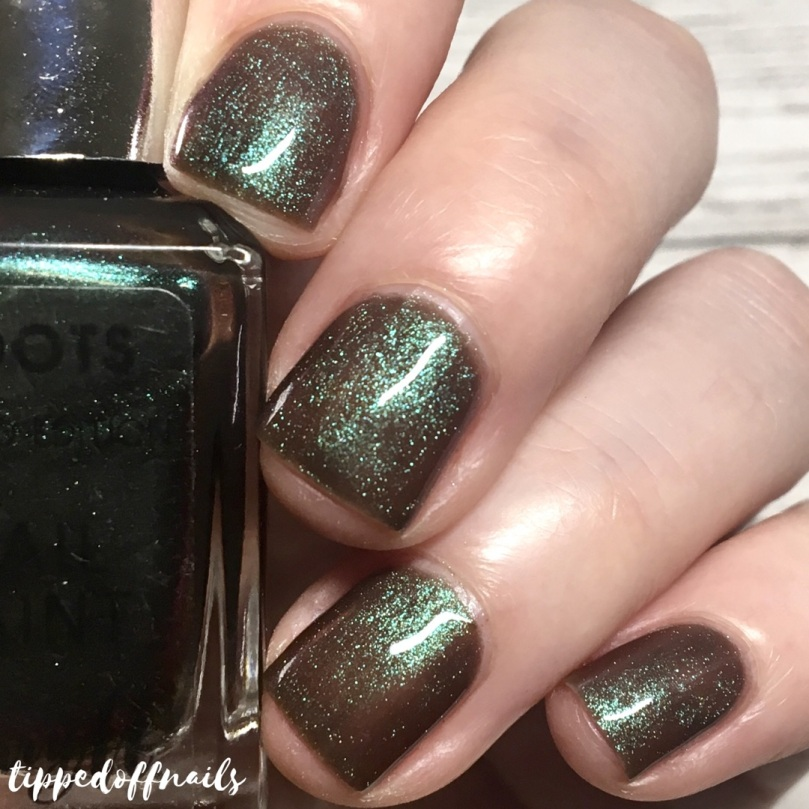 Barry M Boots Galaxy Green Swatch