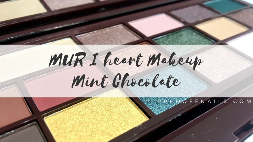 Makeup Revolution I Heart Makeup Mint Chocolate Palette Swatch