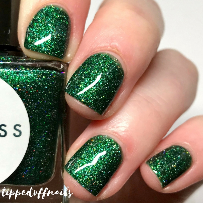 Princess Nail lacquer Holo-scream trio Haunted Forest swatches