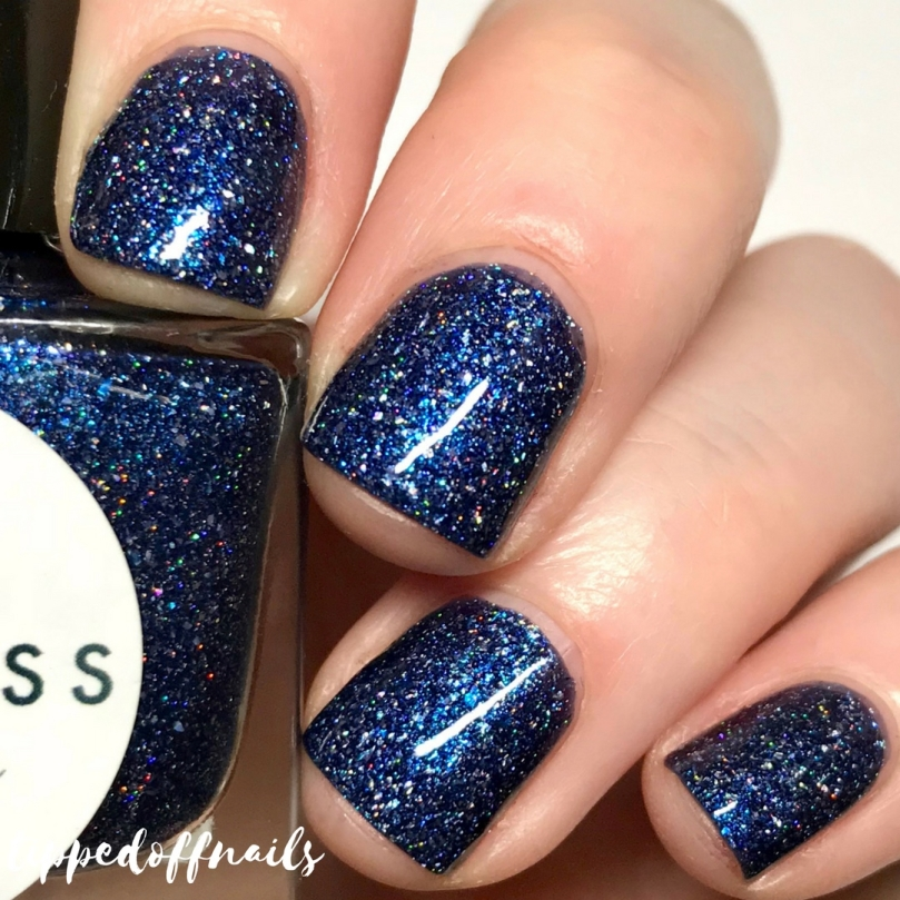 Princess Nail Lacquer Holo-scream trio The Night Shift swatches