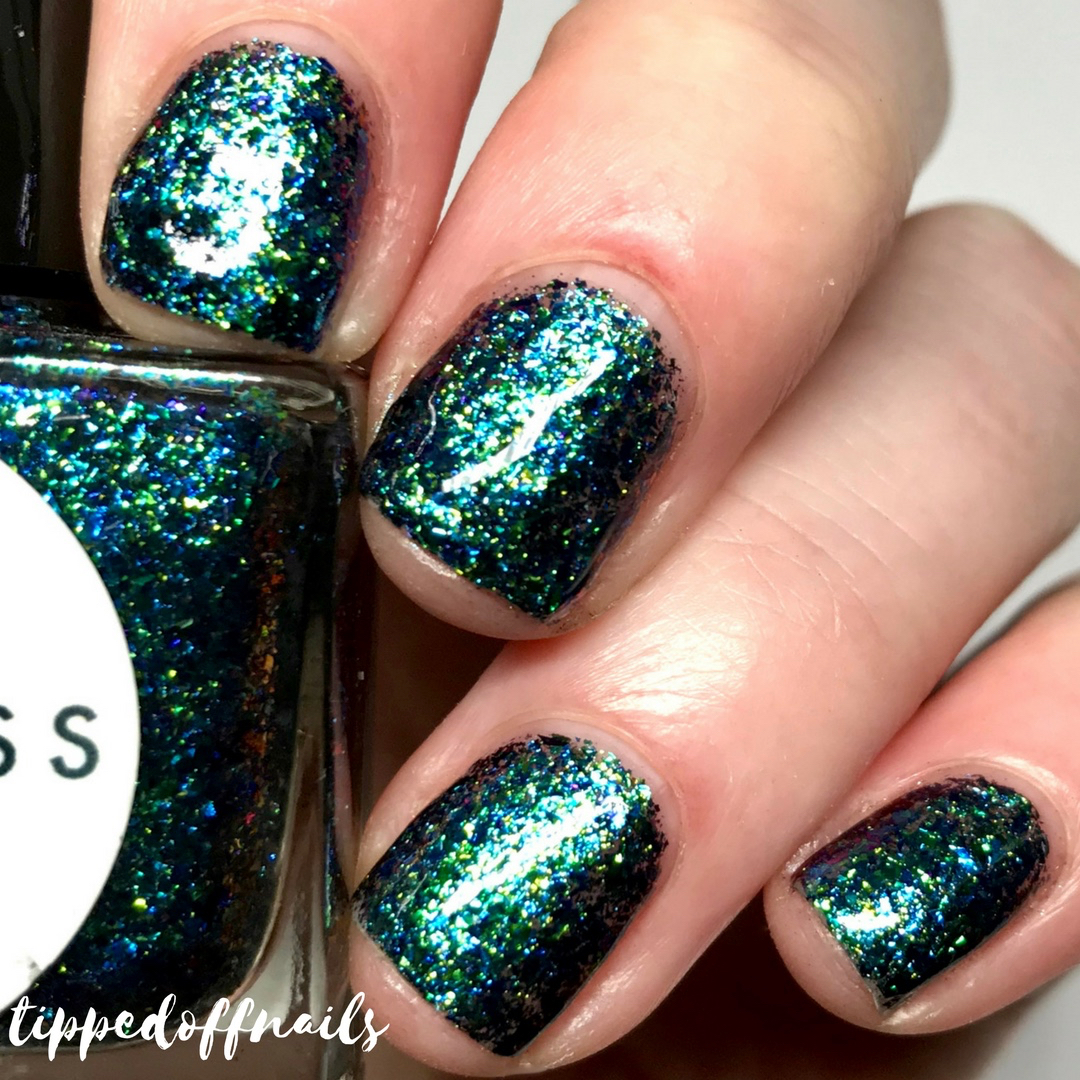 Princess Nail Lacquer festive Haul - nothing but flakes duo Never Trust A Flake Friend swatches