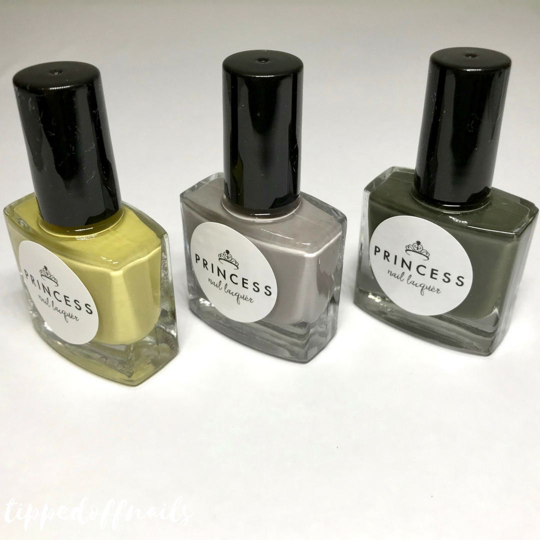 Princess Nail Lacquer Fugly Trio swatches