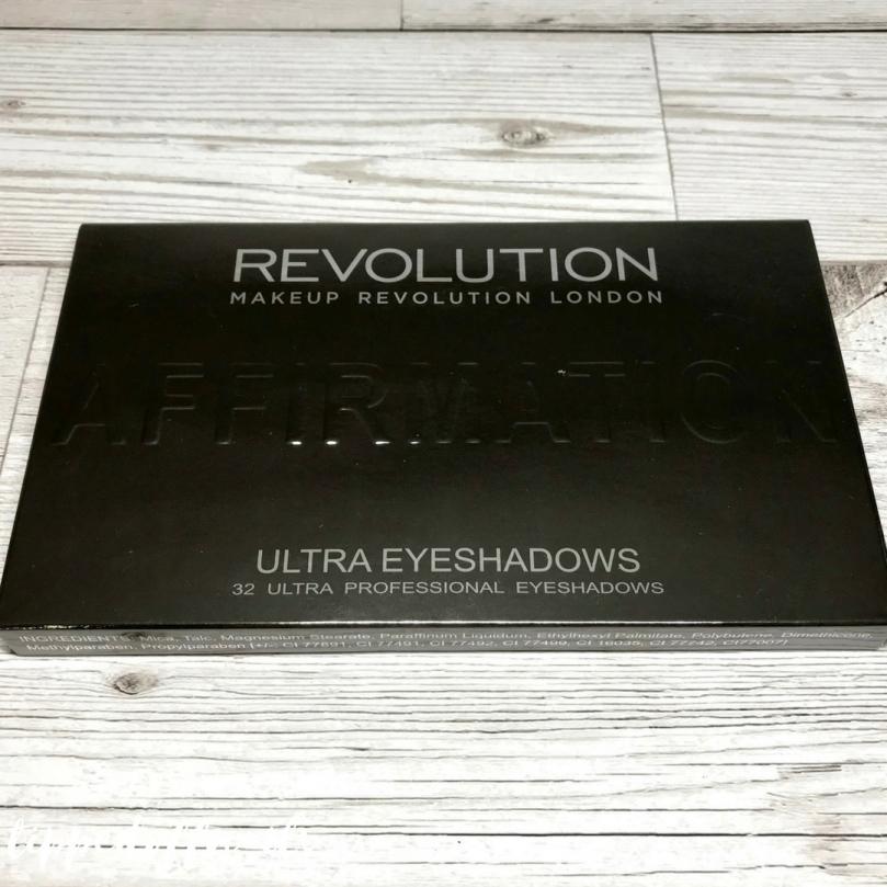 Makeup Revolution Affirmation eyeshadow palette swatches and review