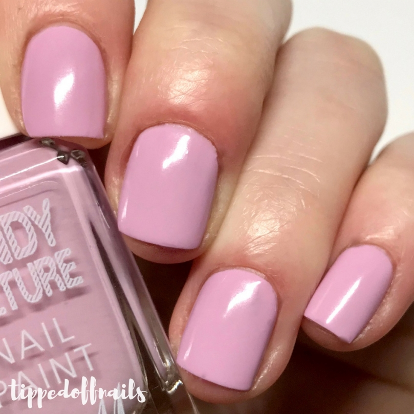 Barry M Candy Culture scented Raspberry Sherbet swatches & review