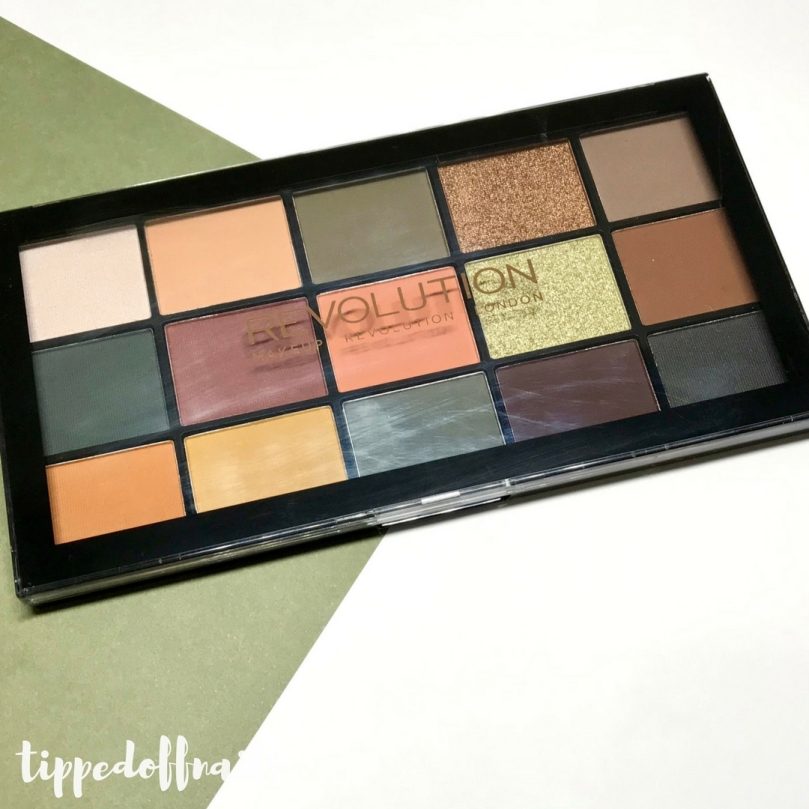 Makeup Revolution Reloaded Palette: Iconic Division swatches