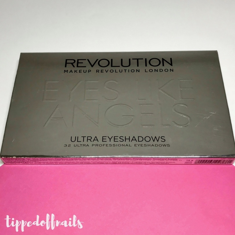 Makeup Revolution Eyes Like Angels palette swatches