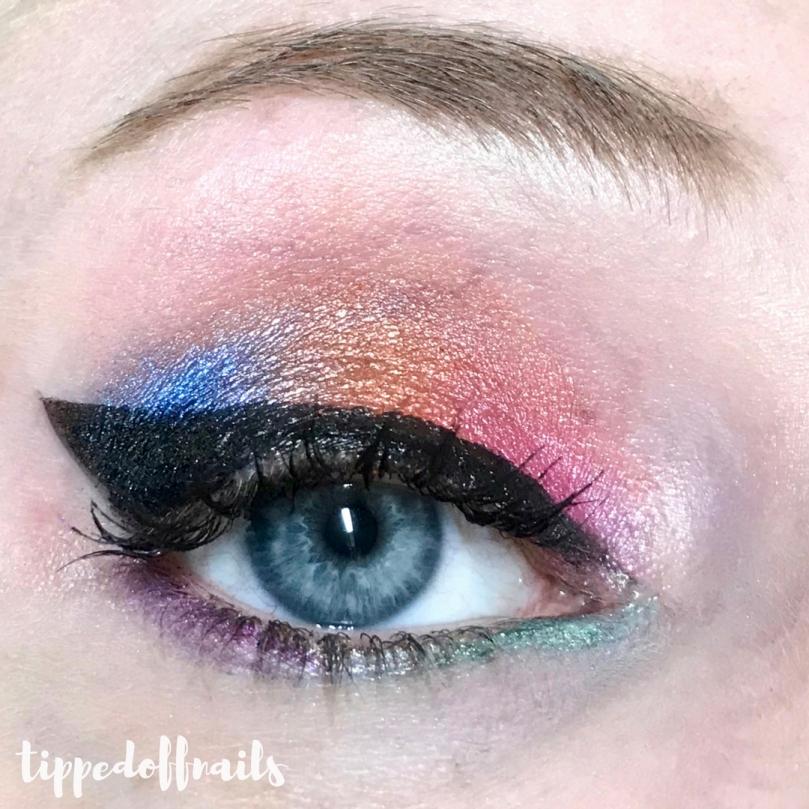 Makeup Revolution Eyes Like Angels palette makeup look
