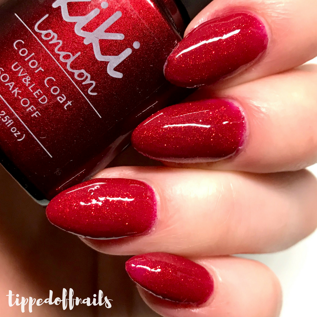 Kiki London - Berry Glitz RD08 swatch