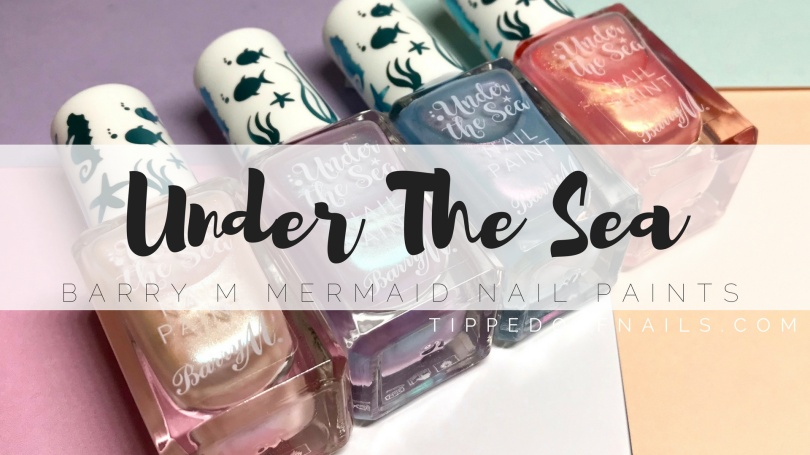 Barry M Under the Sea Nail Paints swatches & review