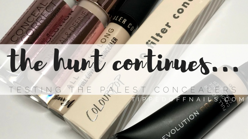 Pale concealer hughstreet swatches & review