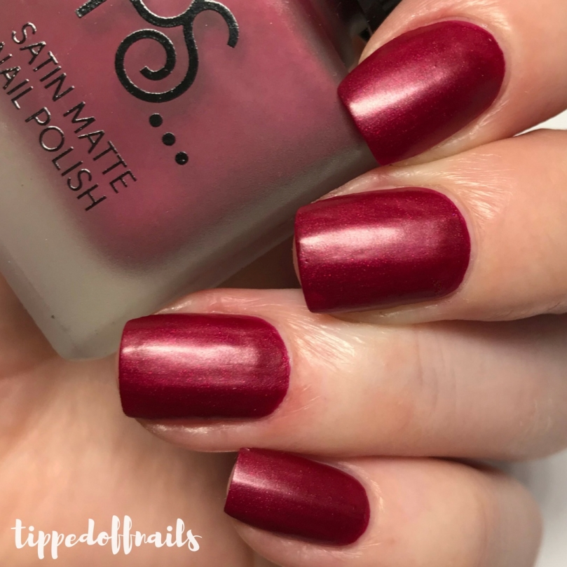 Primark PS Satin Matte nail polish Bloody Mary